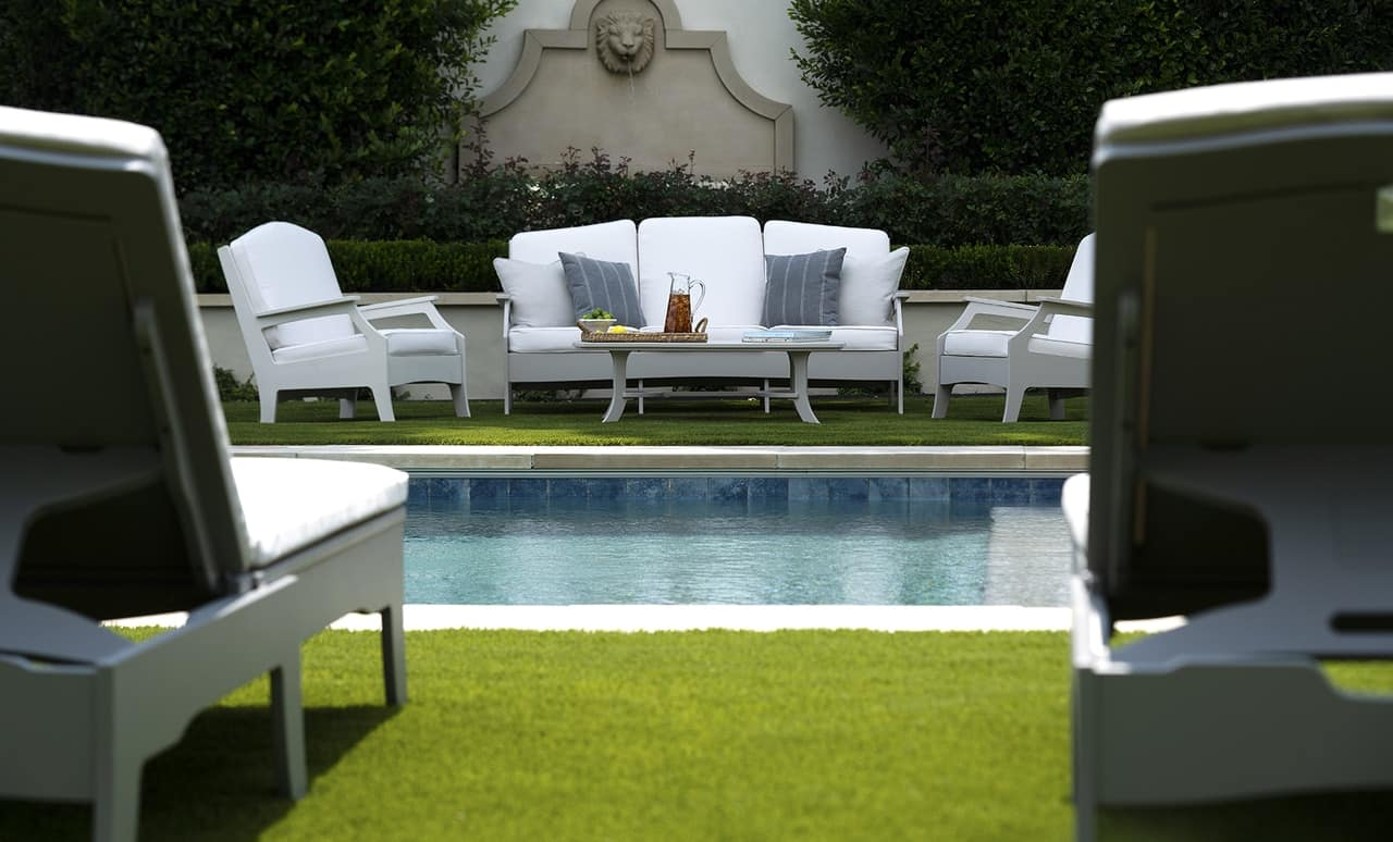 The Legacy outdoor sofa by Ledge Lounger.
