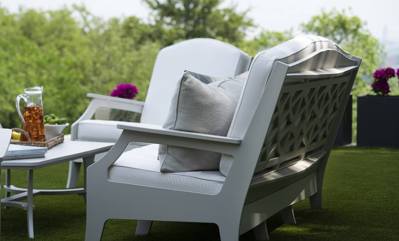 Dress up your outdoor space with a Legacy Club Chair.