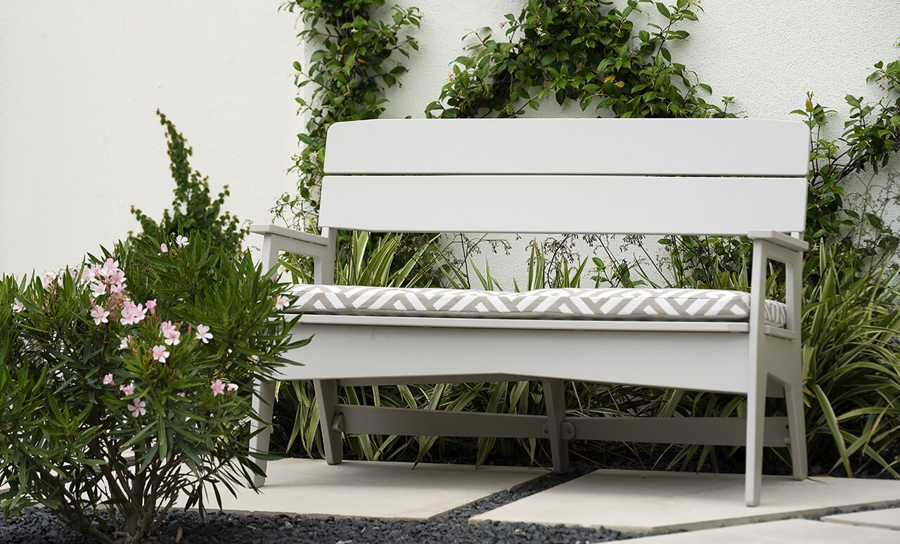 Benches by Ledge Lounger are a great way to add seating and personal style.