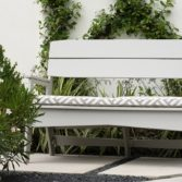 A well placed bench is a great addition to any outdoor space.