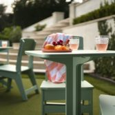 Ledge Lounger outdoor dining furniture is perfect for the patio or poolside.