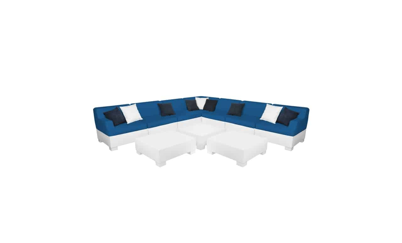 Entertain in style with the Affinity 10 Piece L-Shape sectional.