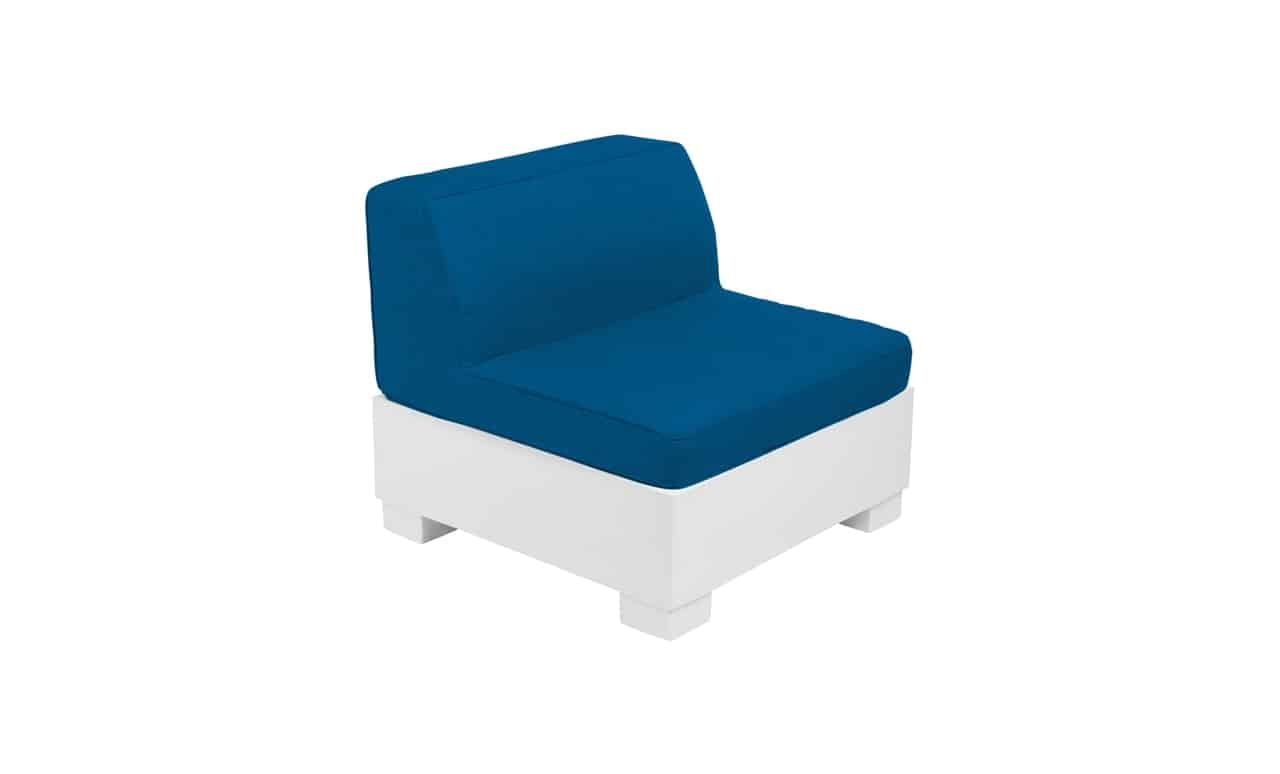 The Affinity Sectional Middle in Blue.