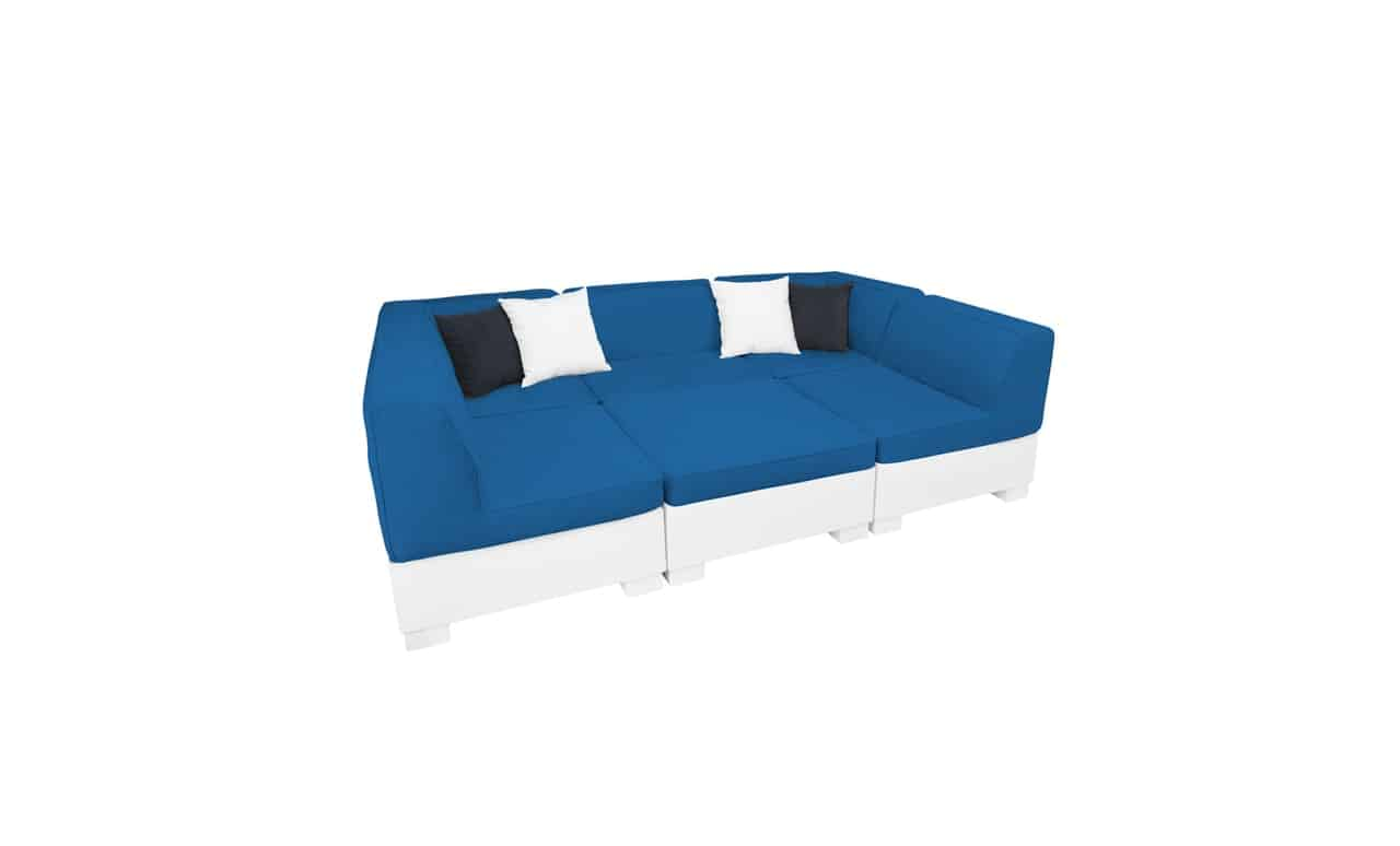 Affinity 6 Piece U-Shape sectional is perfect for lounging.