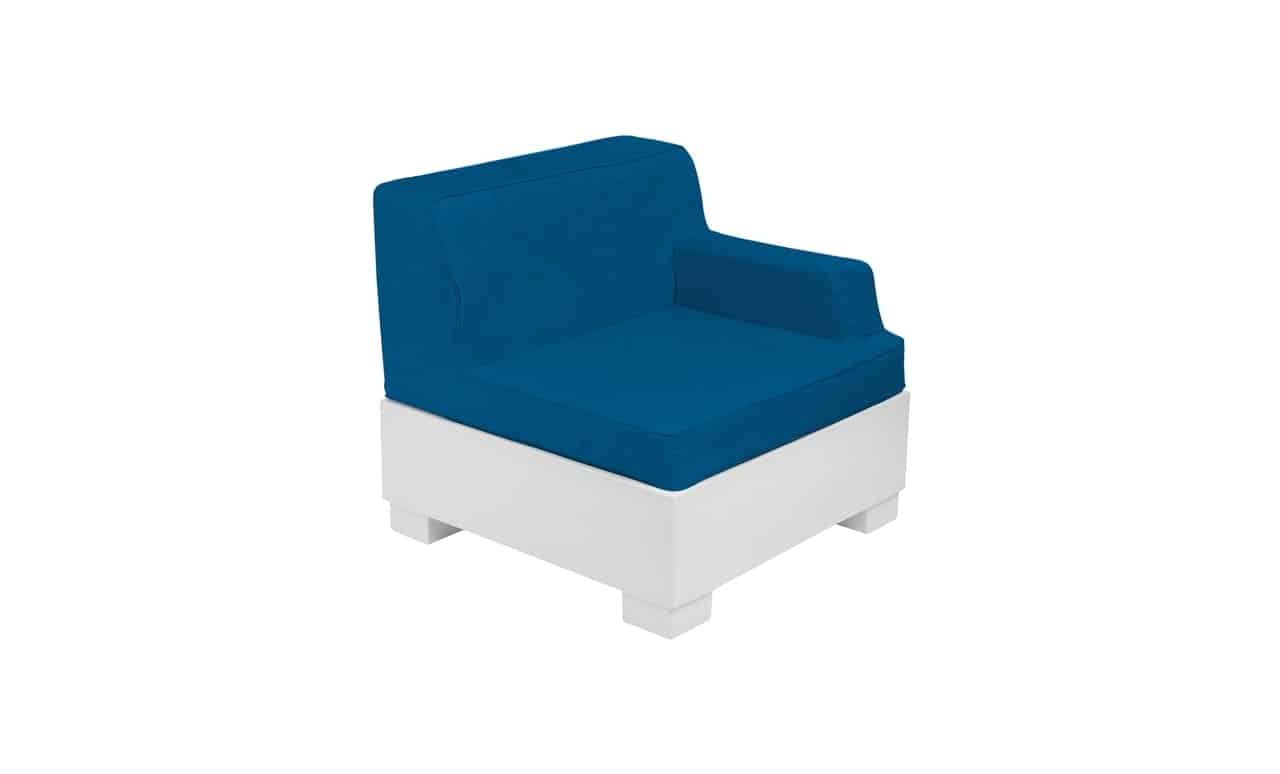 The Affinity Sectional left arm chair is the perfect end cap for a great sectional.