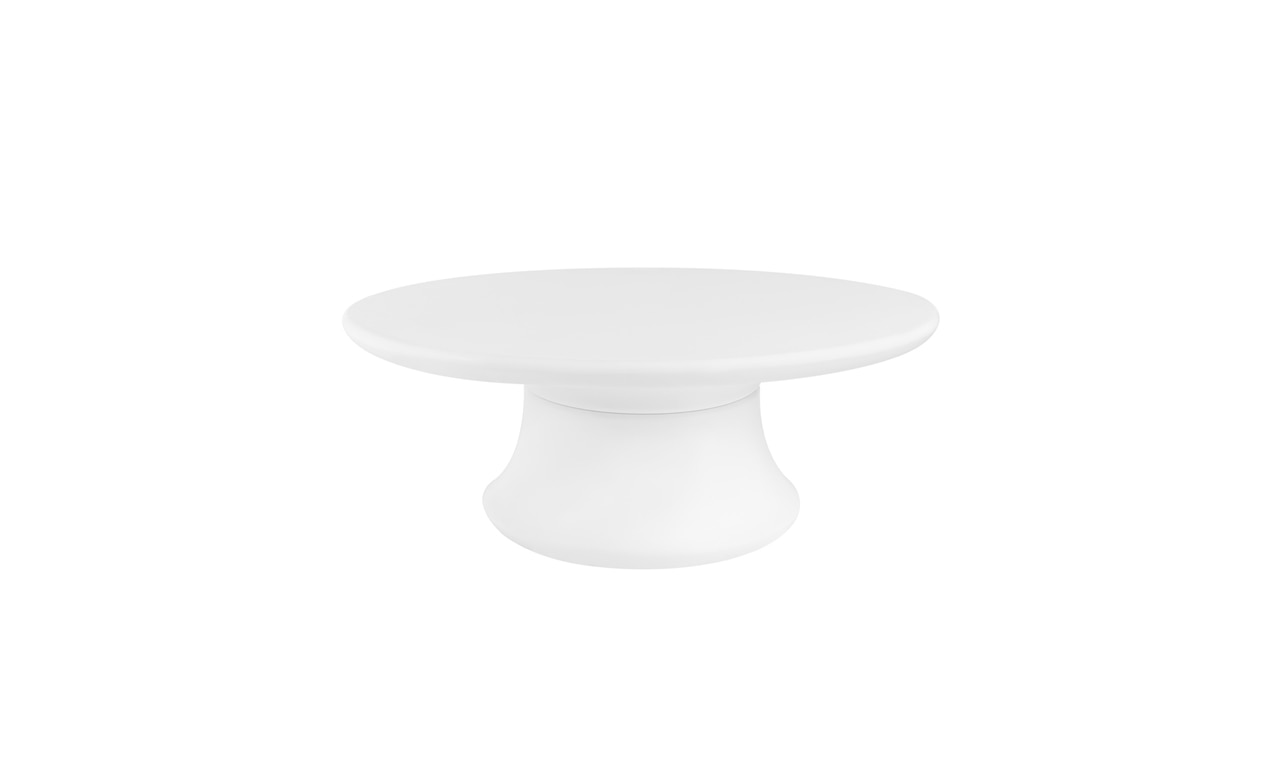 Affinity Oval Outdoor Table in white color offering.