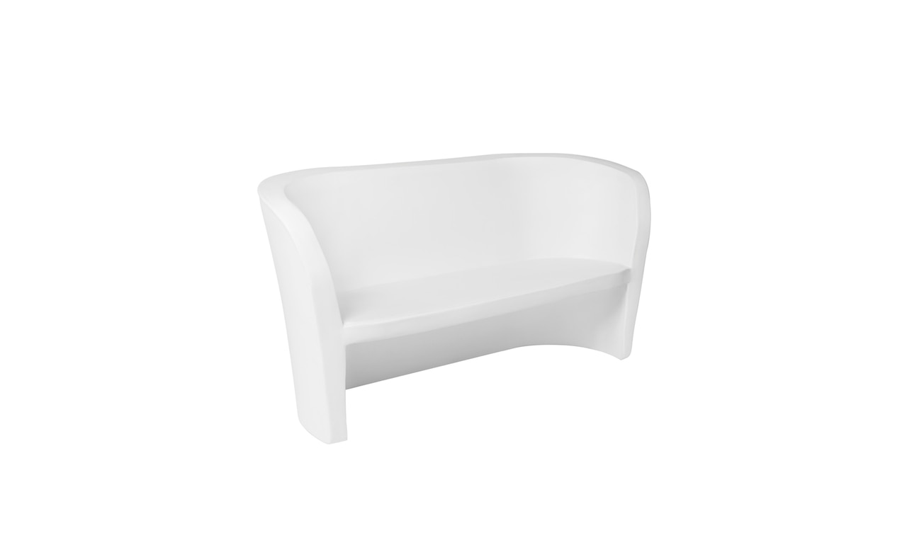Add seating to your patio or pool area with the sleek Affinity Loveseat.