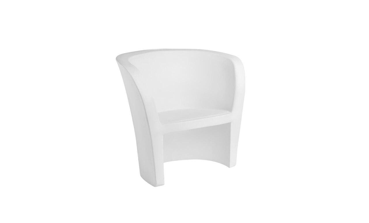 Ledge Lounger Affinity Chair in White.