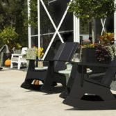 Relax as you rock with the Mainstay Adirondack Rocker.