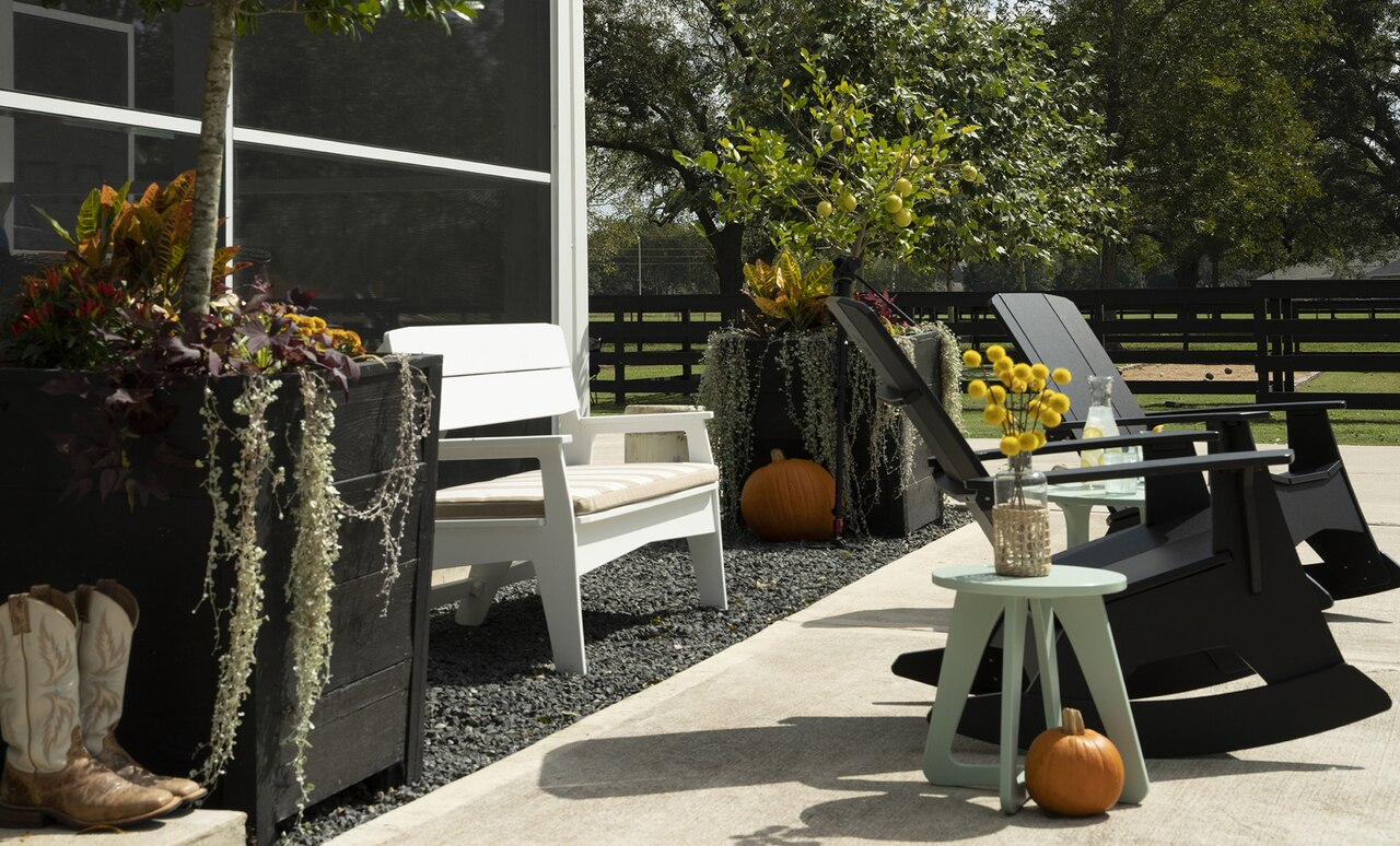The Mainstay Stool is a great addition to any outdoor space.
