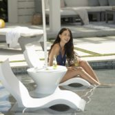 The Signature Side Table is perfect for in pool drinks!