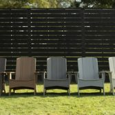 Set of beautiful Mainstay Adirondack chairs by Ledge Lounger.