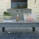 Sophisticated Mainstay rectangular coffee table.