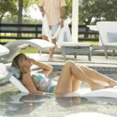 Adding the Signature Chaise Shade allows the perfect amount of protection from the sun!