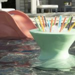 The Signature Side table is perfect for in pool refreshments!