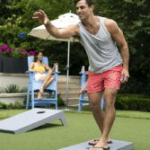 Ledge Loungers allows you to play great looking outdoor games poolside! Shop now!
