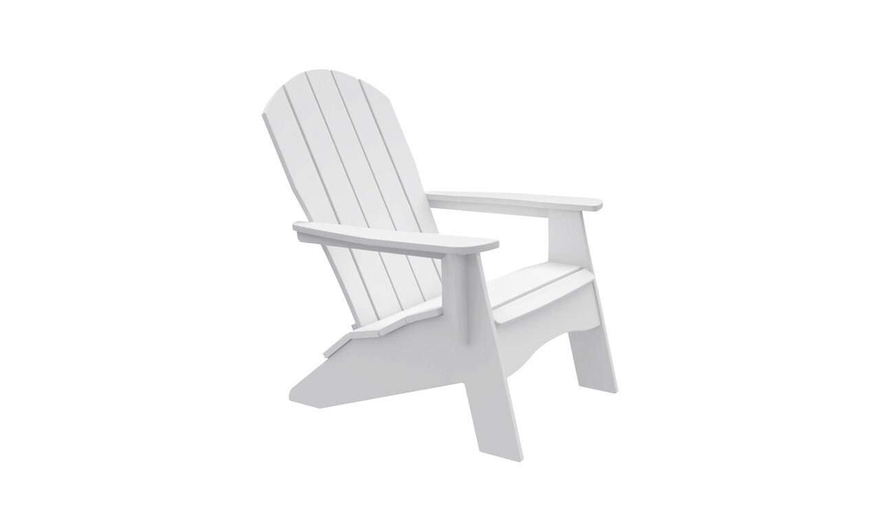 The Ledge Lounger Legacy Adirondack in white color offering.