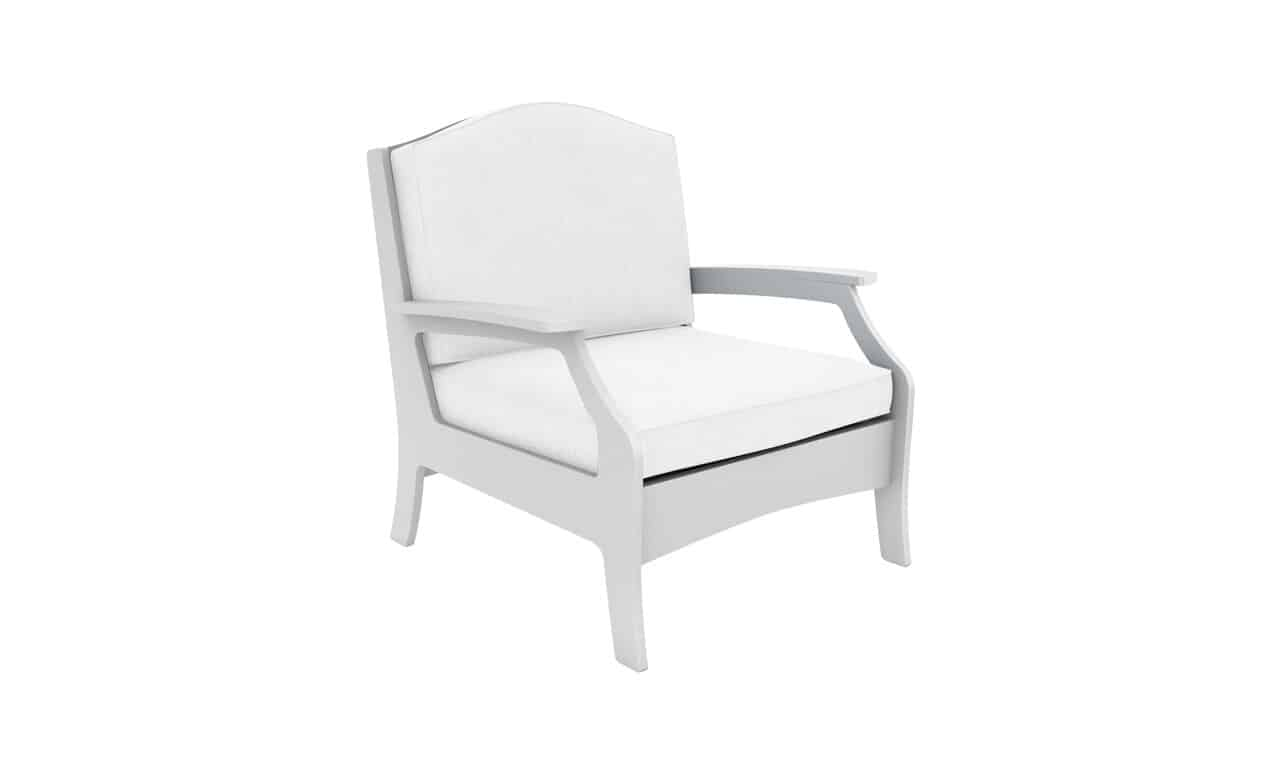 The Legacy Club Chair in all white.
