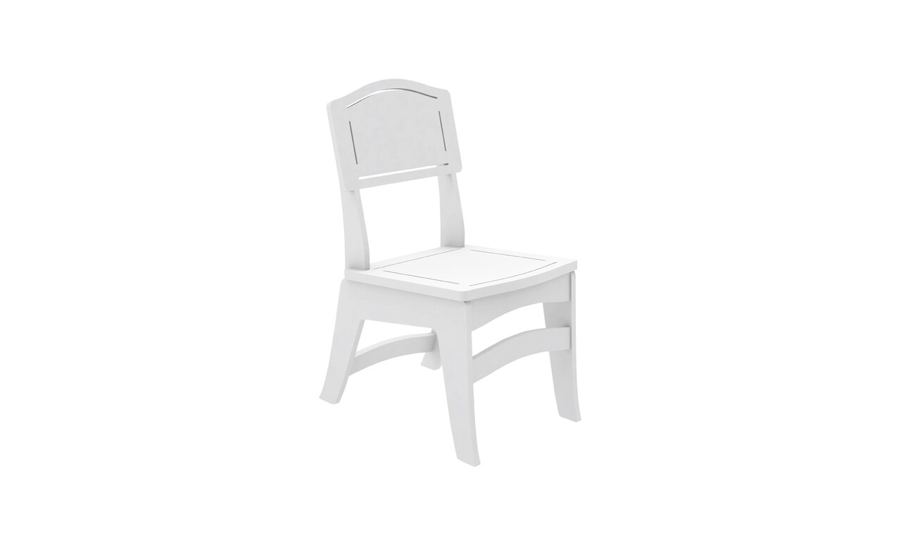 The Legacy Dining Side Chair in white color offering.