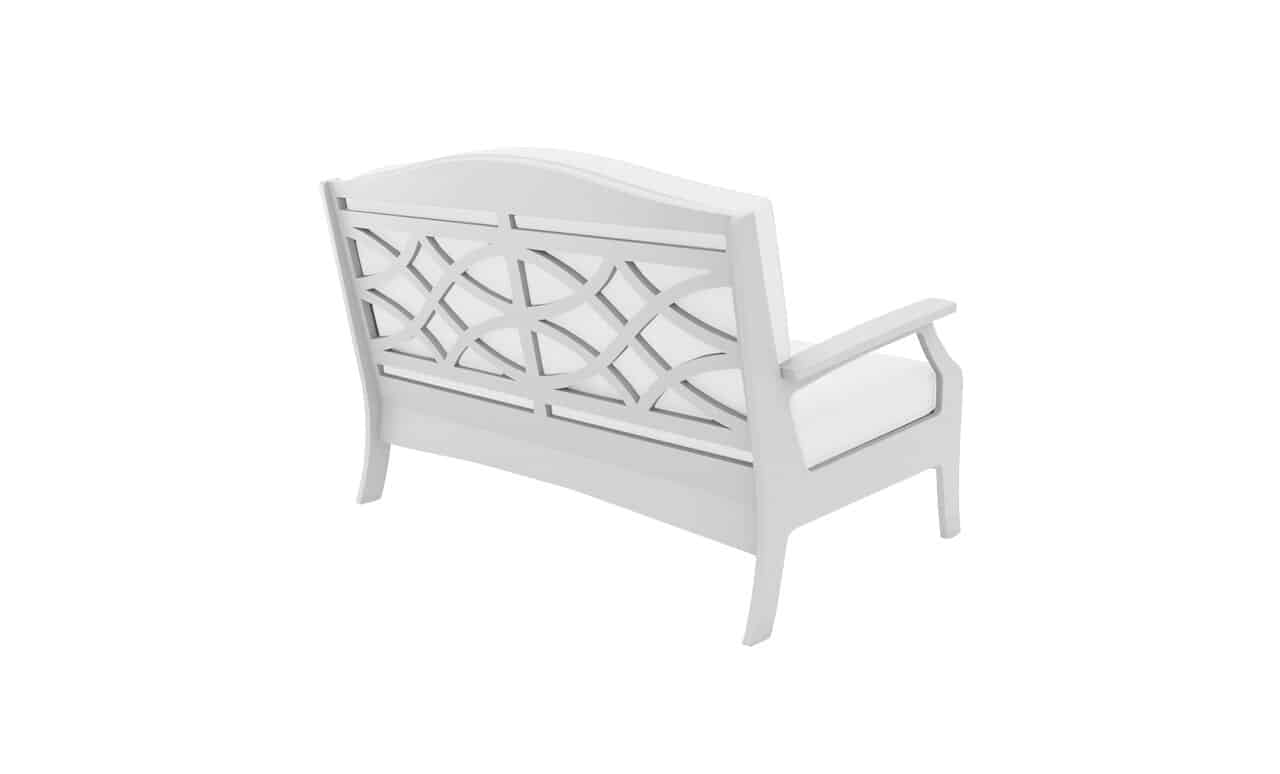 The Legacy Loveseat is simply sophisticated for an outdoor bench.