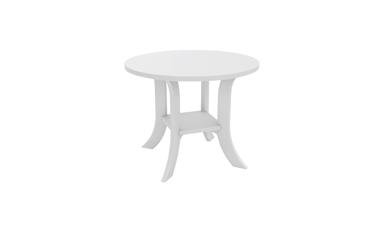 The Legacy Round Side Table is great for any outdoor gathering area.
