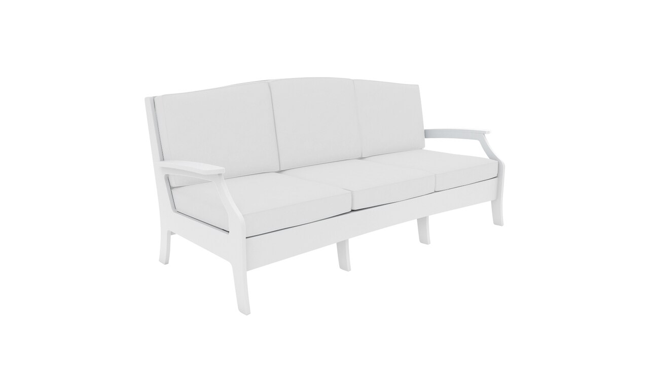 Ledge Lounger Legacy Sofa white white cushions.