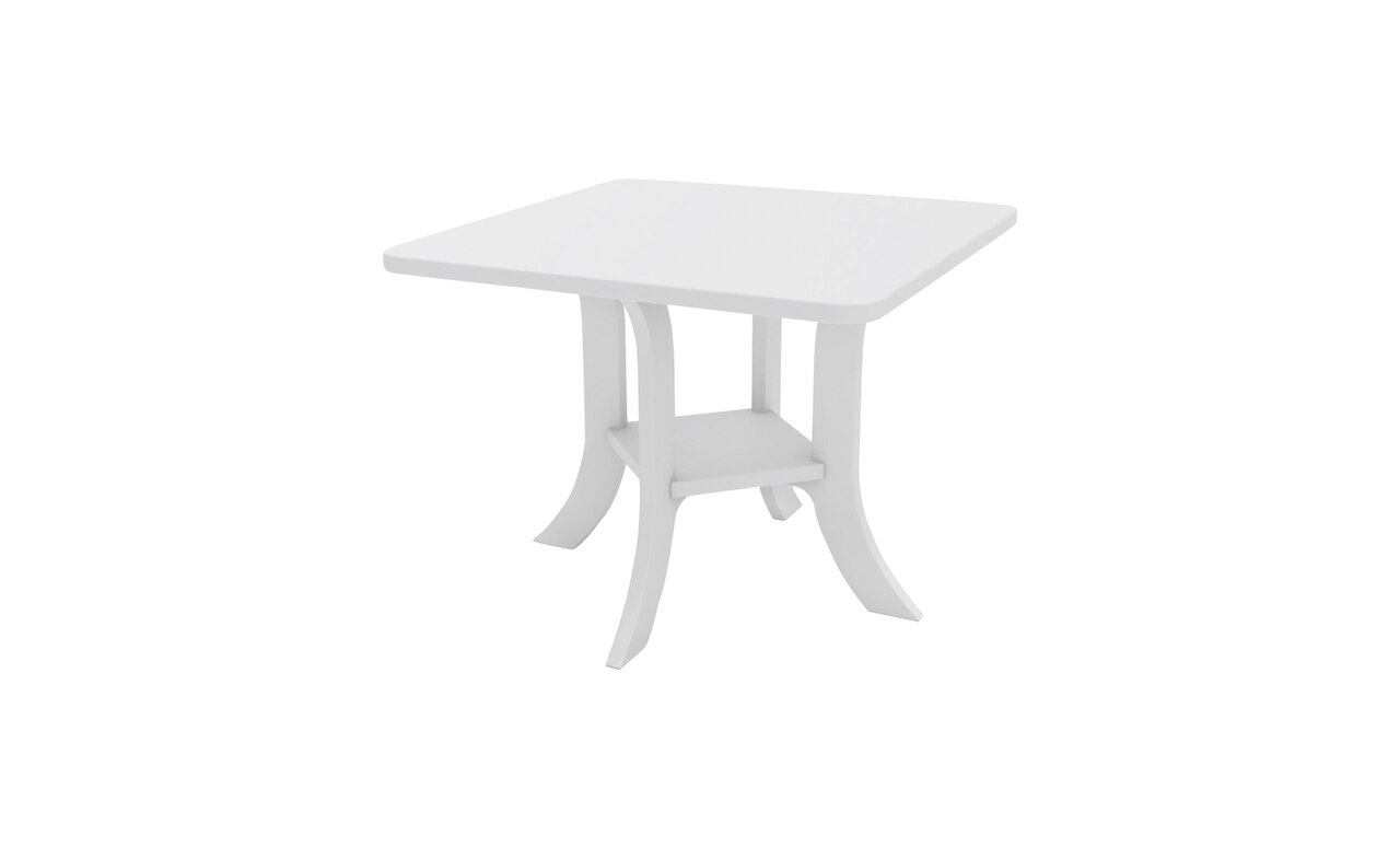 Legacy Square side table in white.