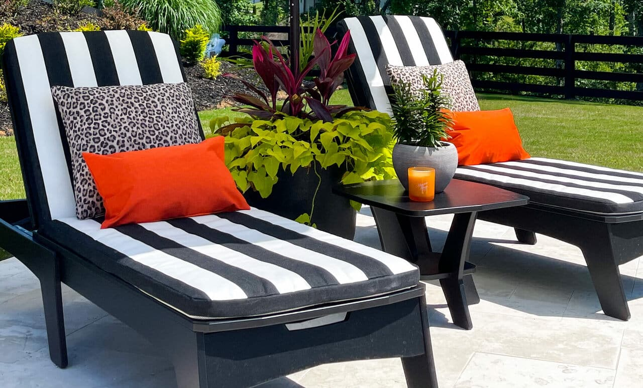 The Mainstay Chaise cushion adds a pop of color and style to your chair! Shop now!