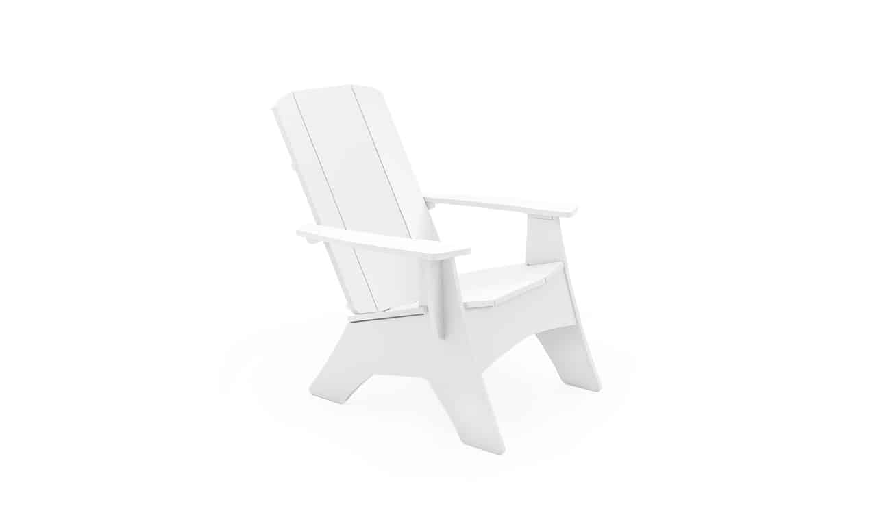 Ledge Lounger Adirondack chair in white.