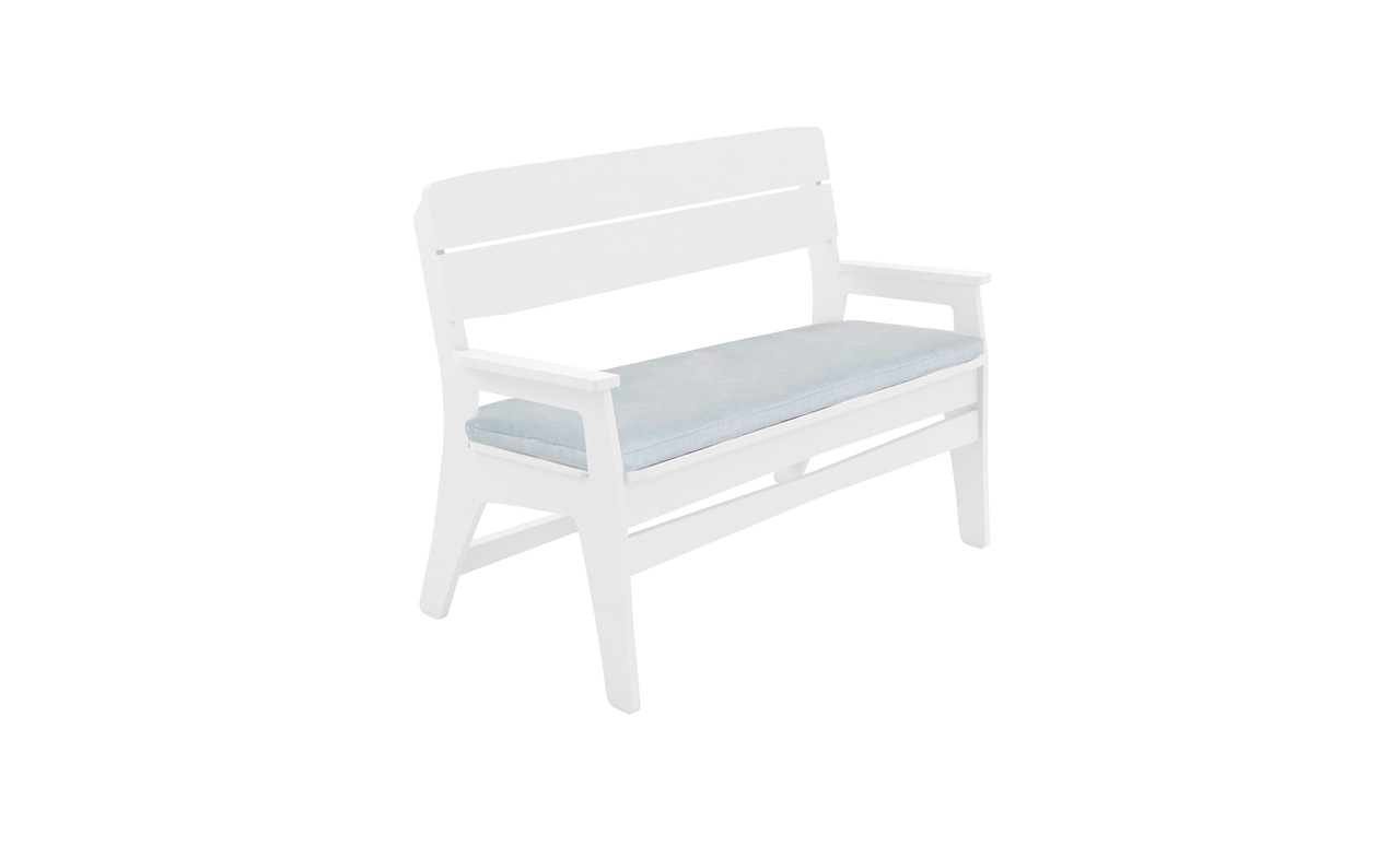 Ledge Lounger Mainstay Bench with cushion.
