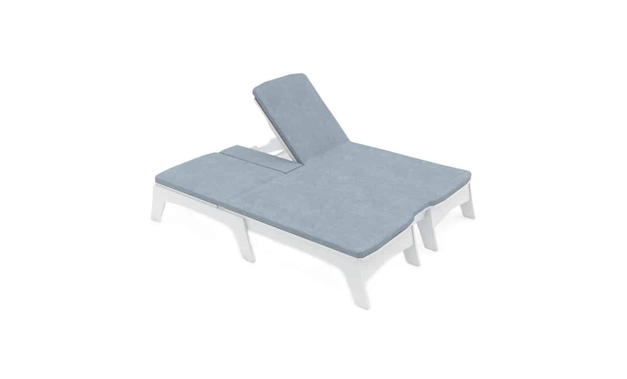 The Ledge Lounger Mainstay Double Chaise with cushions.