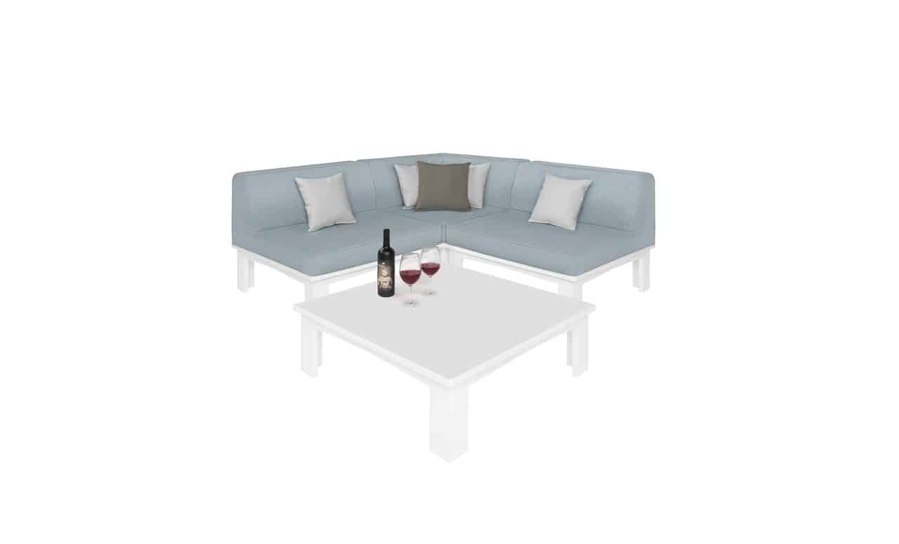 Ledge Lounger four piece Mainstay sectional.
