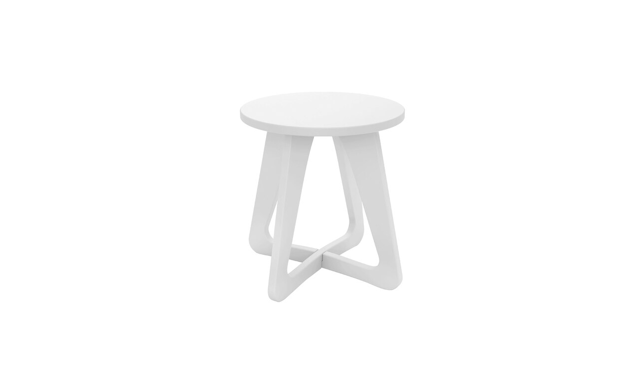 Ledge Lounger Mainstay Stool in white.