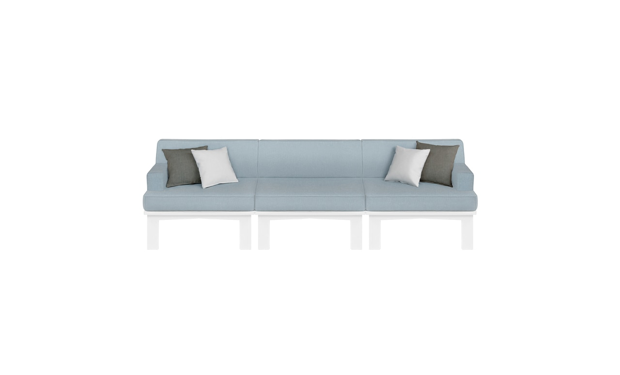 Add comfortable seating to your outdoor area with the Ledge Lounger Mainstay Sectional.