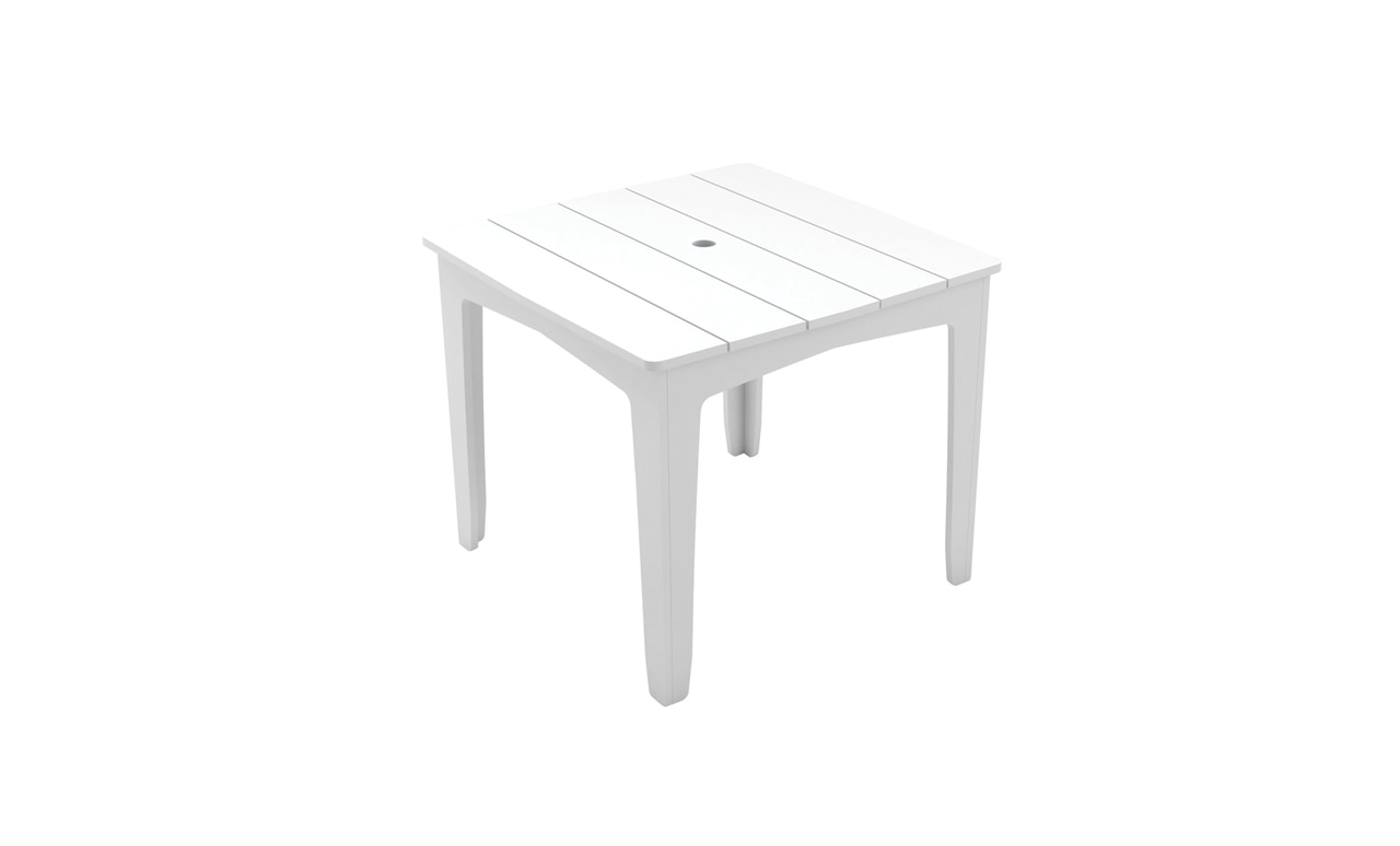 Ledge Lounger Mainstay square dining table.