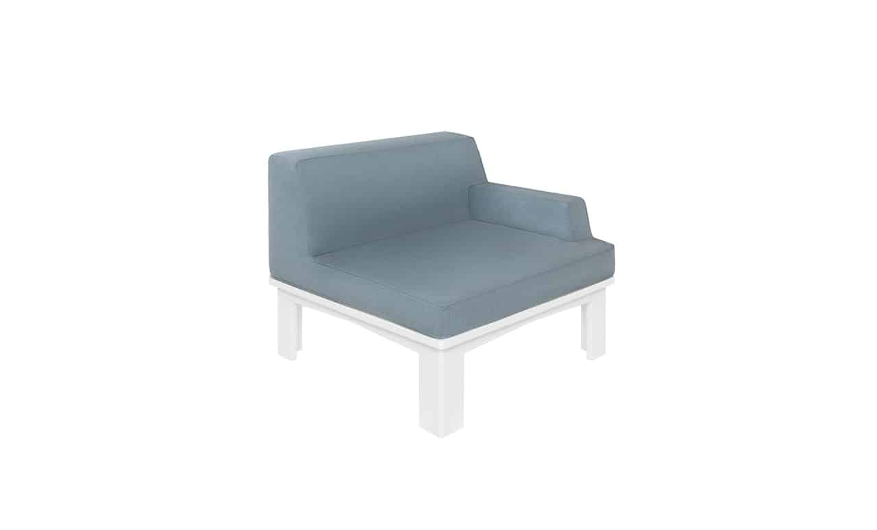 Extend your outdoor seating with the Mainstay Sectional left arm piece!