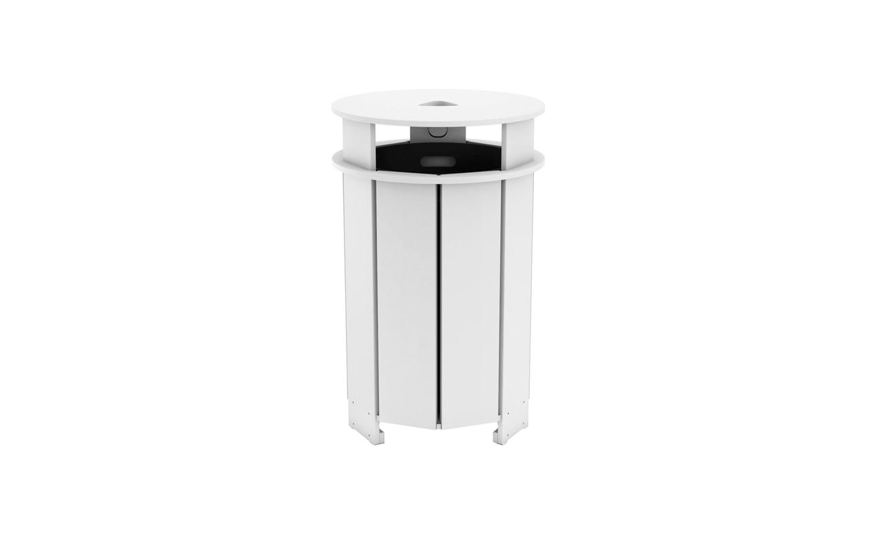 Ledge Lounger outdoor trash bin proves trash bins can be sleek!