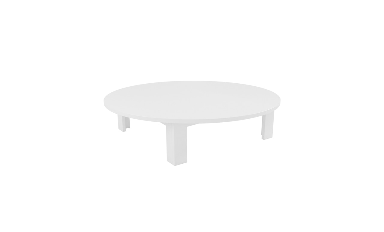 Ledge Lounger round Mainstay coffee table.