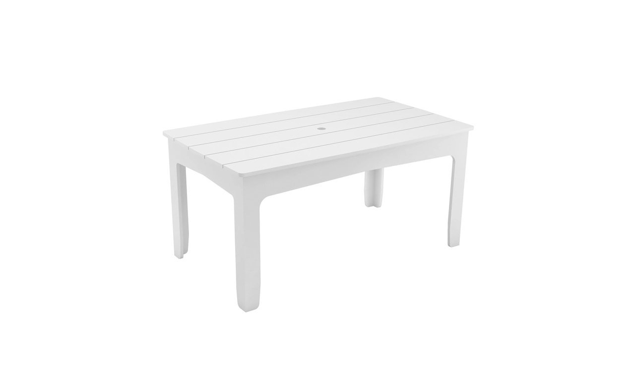 The Ledge Lounger Mainstay Rectangular dining table is a great addition to any outdoor space.