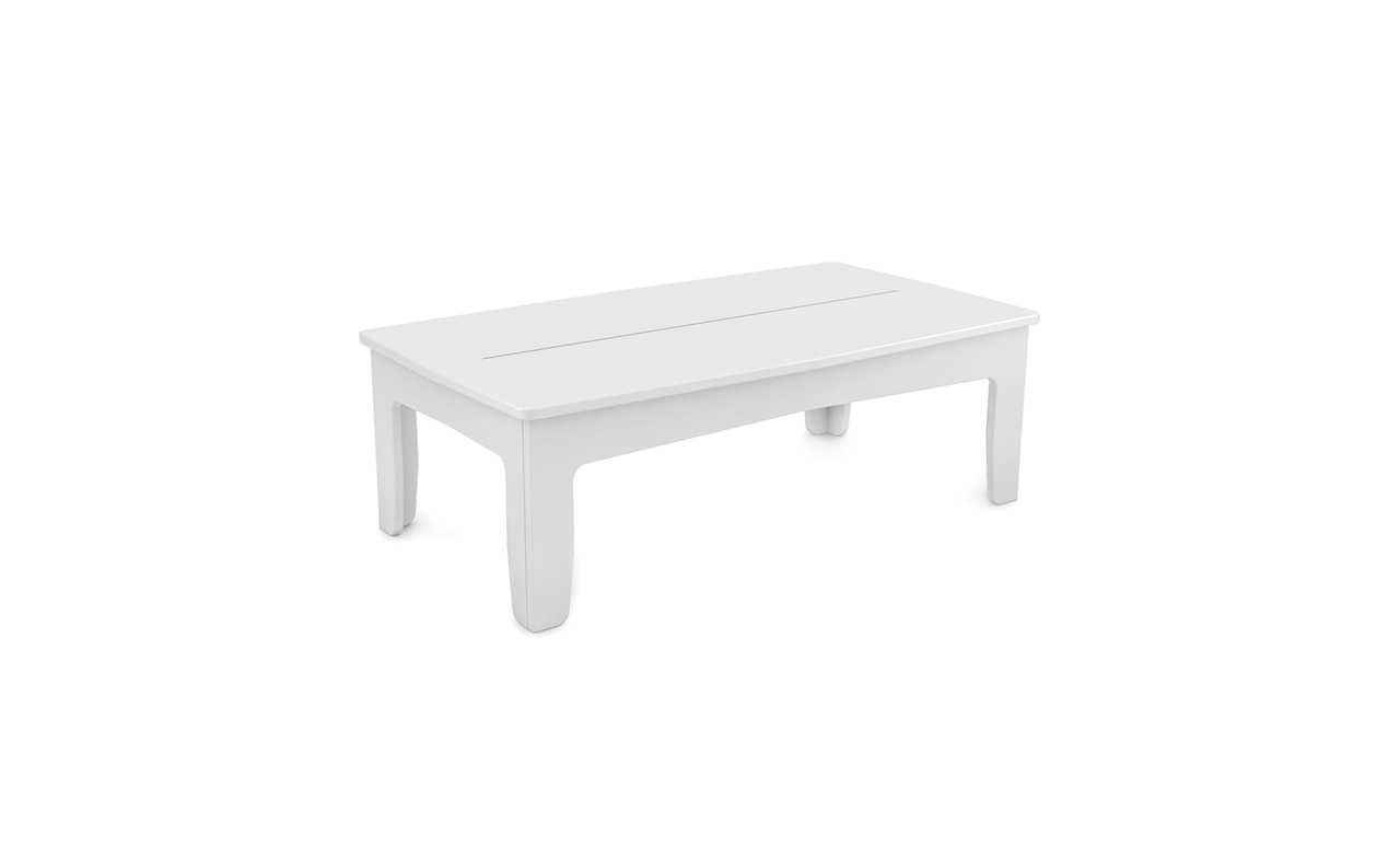 Mainstay rectangular coffee table in white.