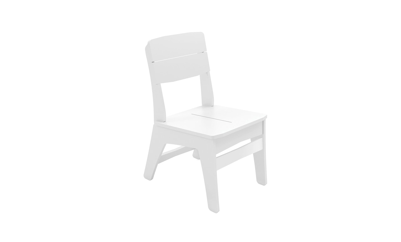 The Ledge Lounger Mainstay dining chair in white.