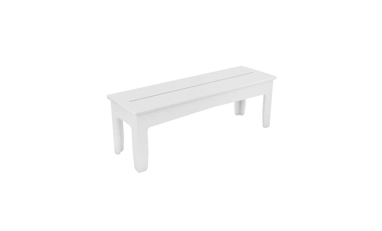 Ledge Lounger Mainstay Bench is perfect for poolside lounging and dining.
