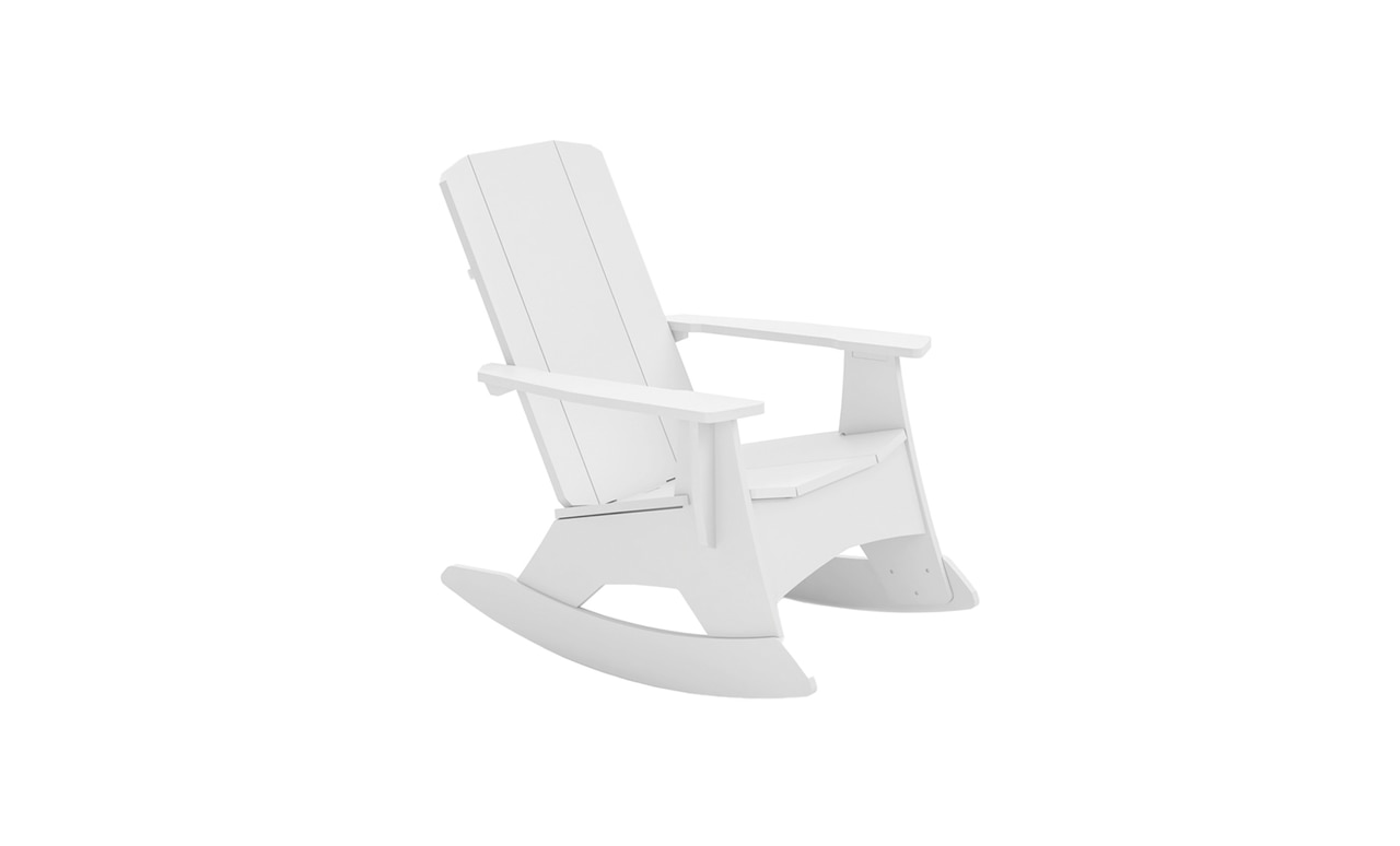 An Adirondack rocker from Ledge Lounger is a great addition to any outdoor space.