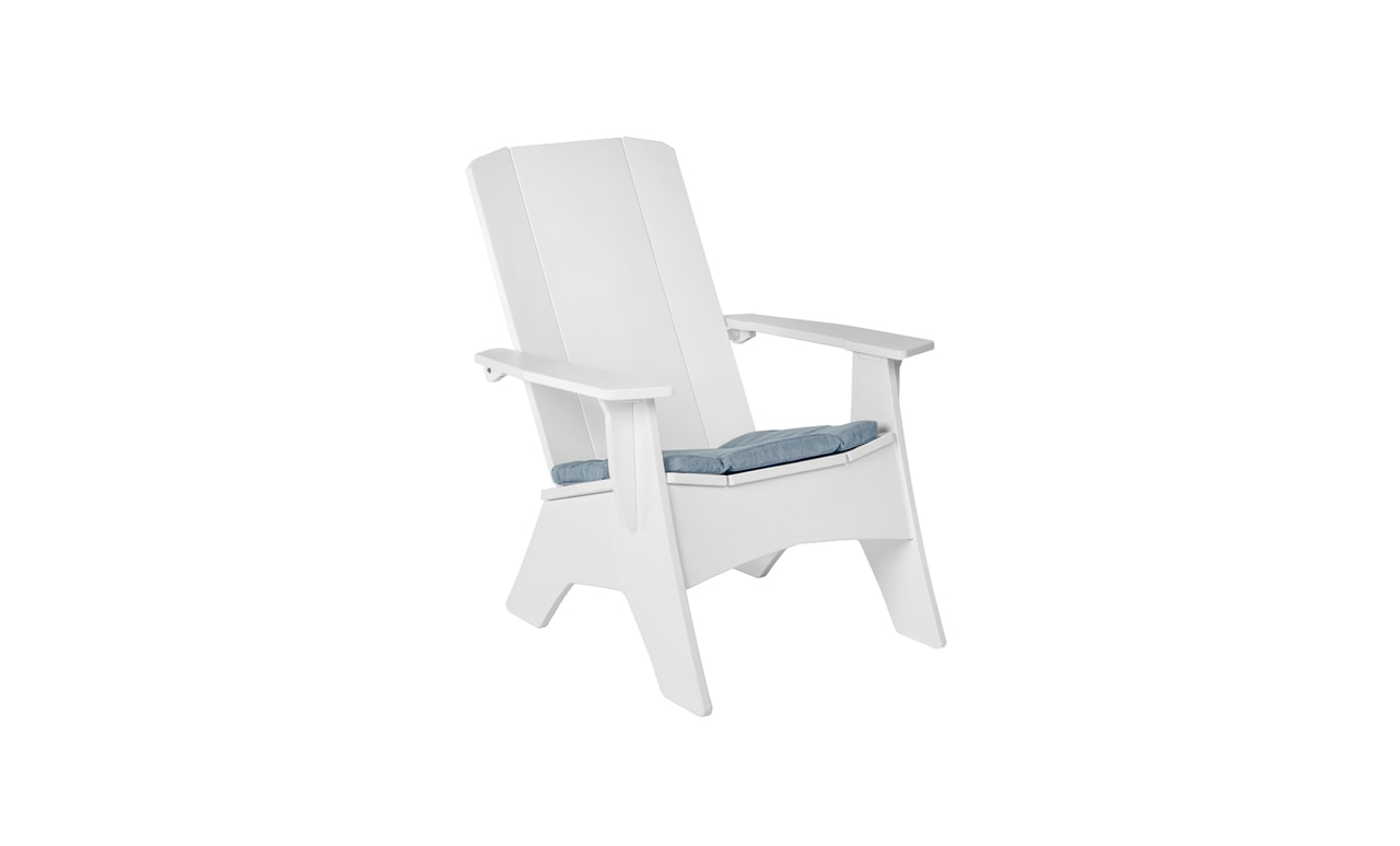 Ledge Lounger Adirondack with cushion for added comfort and style.