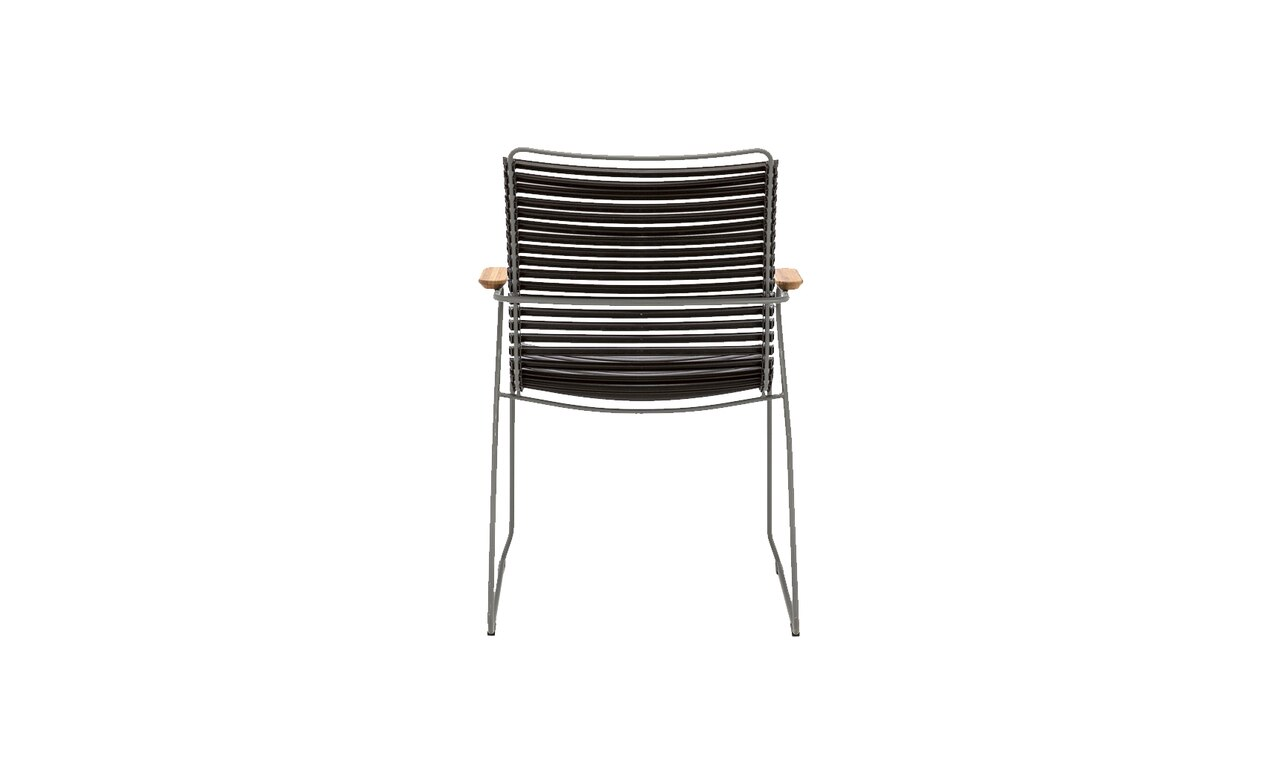 The Playnk Tall Dining Arm Chair is a great addition to any outdoor space.