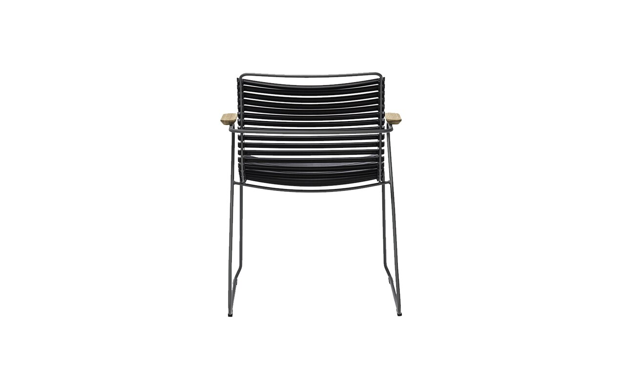 The Ledge Lounger Playnk Dining Armchair in black color offering.