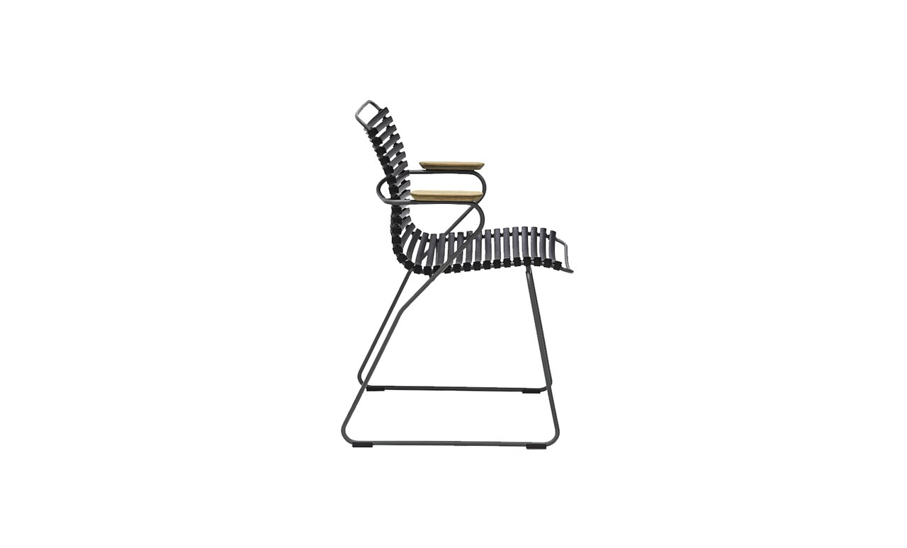 Playnk side dining chair in black.