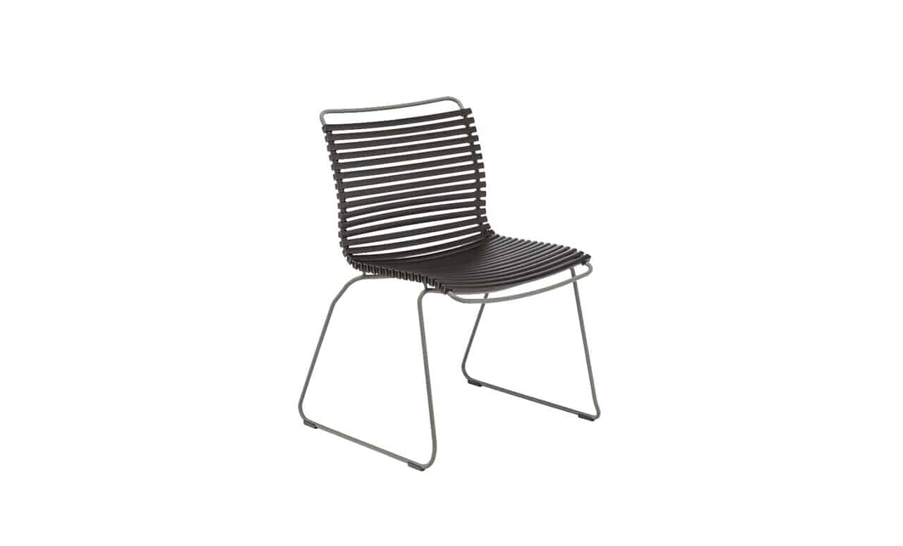 Playnk side dining chair in black color offering by Ledge Lounger.