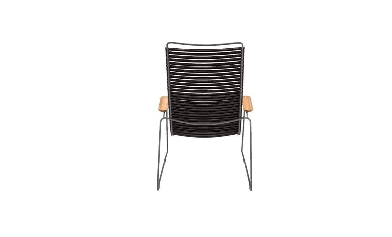 Playnk Chair in black from the backside.