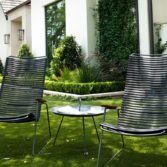 The Playnk round side table is always a stylish addition to an outdoor seating area.
